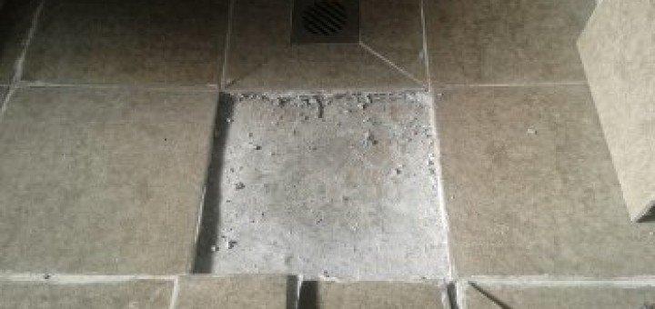 destroyed shower base